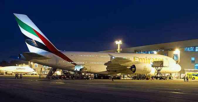 Detalhe para o 747 da Lufthansa ao fundo(foto: Rodrigo Cozzato/GRU Airport/Divulgação)