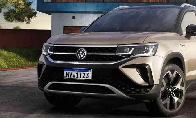 O SUV médio terá conjunto óptico que inclui luz diurna de LED(foto: Volkswagen/Divulgação)