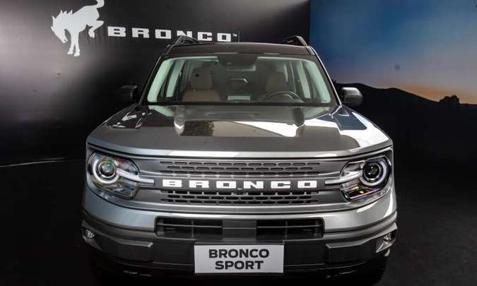 O modelo tem linhas retas e formas robustas, com conjunto óptico full LED(foto: Ford/Divulgação)