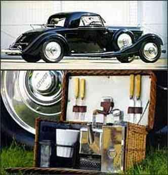 Após restauração, modelo foi colocado à venda em Pebble Beach por R$ 724 mil. Conjunto para chá das cinco está entre os equipamentos