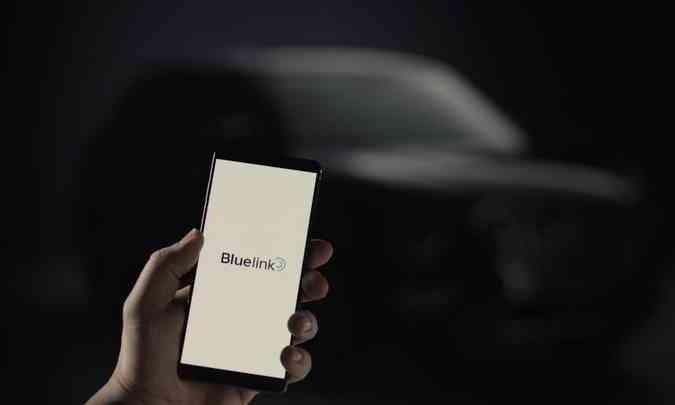 Com o Hyundai Bluelink o motorista consegue dar partida remota e acionar o ar-condicionado(foto: Hyundai/Divulgação)
