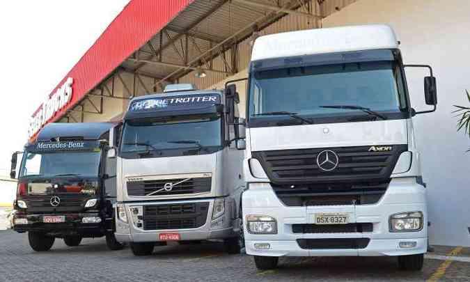 Loja da Mercedes-Benz trabalha com caminhões usados de todas as marcas(foto: Mercedes-Benz/Divulgação)