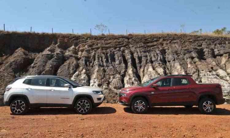 SUV médio Jeep Compass vendeu mais que o campeão dos compactos; Fiat Toro foi novamente líder entre as picapes intermediárias - Jair Amaral/EM/D.A Press