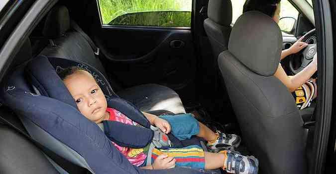 Ministério da Saúde destacou a lei da cadeirinha (2010) como um dos principais motivos para a redução de mortes no trânsito (foto: A.Baêta/OIMP/D.A Press.)