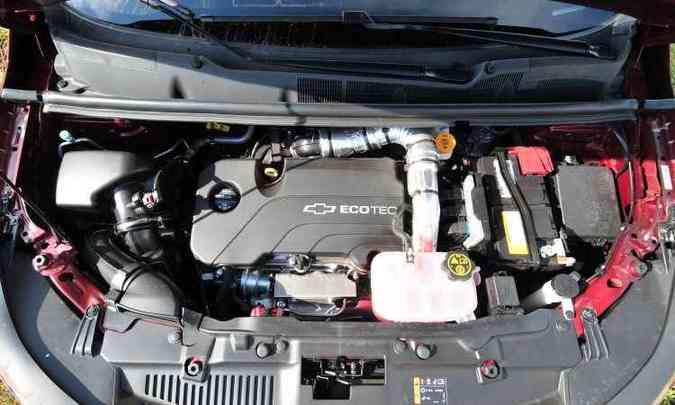 O compacto motor 1.4 turbo tem bom torque em baixas rotações, proporcionando respostas rápidas(foto: Ramon Lisboa/EM/D.A Press)