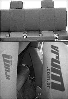 Banquinho é inseguro, além de cintos e encosto não funcionarem. Fiat já desenvolve picape Strada cabine dupla para o ano que vem - Arquivo EM/D. A Press e Marlos Ney Vidal/EM/D. A Press - 12/11/08