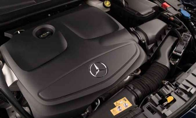 A versão GLA 200 é equipada com motor 1.6 turbo de 156cv e 25,5kgfm de torque(foto: Malagrine Estúdio/Mercedes-Benz/Divulgação)