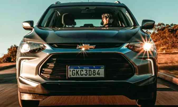 Se continuar tendência de vendas, Chevrolet Tracker deve figurar entre os três SUVs compactos mais vendidos do ano(foto: Jorge Lopes/EM/D.A Press)