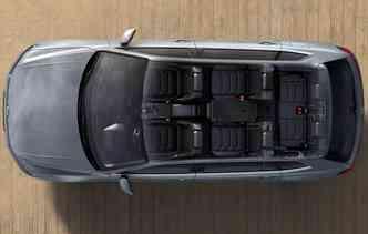 SUV chegará com opção de cinco e sete lugares. Foto: Volkswagen / Divulgação