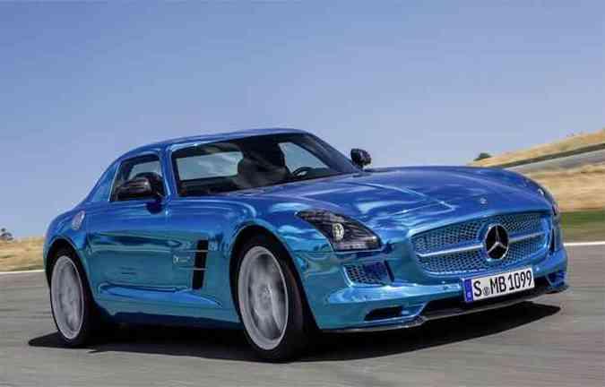 SLS prova que elétrico pode ser rápido e ter boa qualidade(foto  Mercedes  acd0b1edf9788