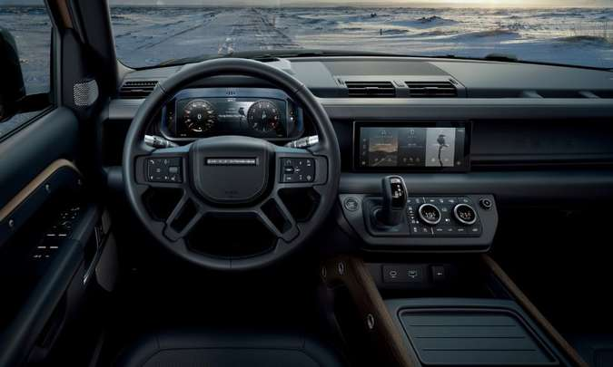 Interior do novo Defender(foto: Land Rover/Divulgação)