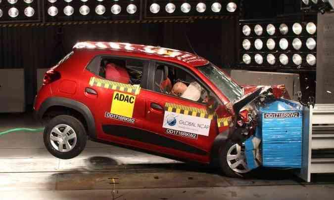 Renault Kwid (foto: Global NCAP/Divulgação - 22/9/16)