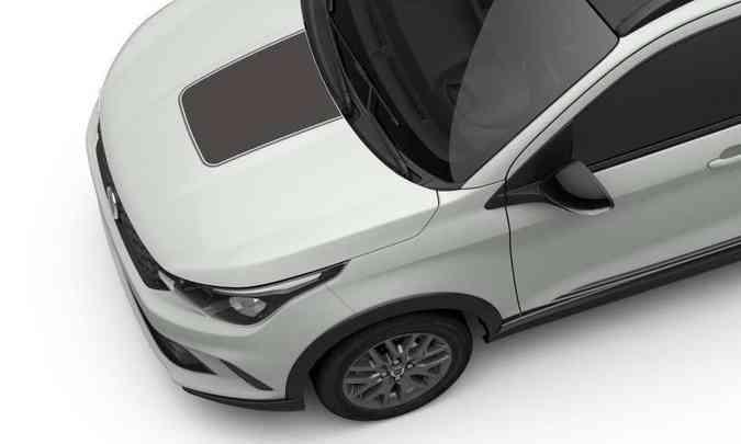 Modelo terá molduras nas caixas de rodas e detalhes em preto no capô e nos retrovisores(foto: Fiat/Divulgação)