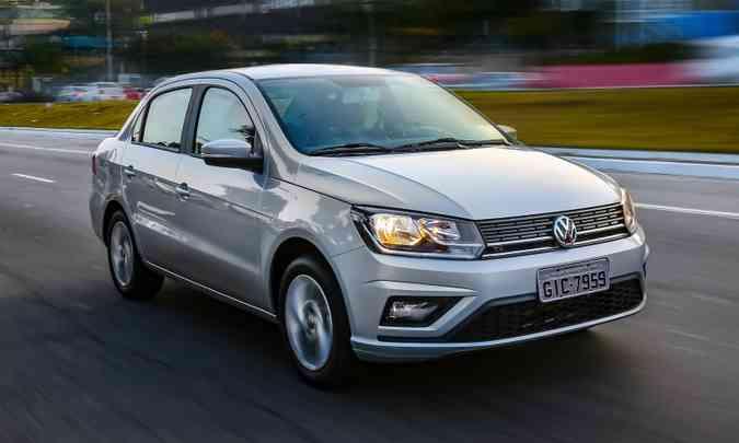 Entre os sedãs compactos de entrada o primeiro lugar está com o VW Voyage(foto: Volkswagen/Divulgação)