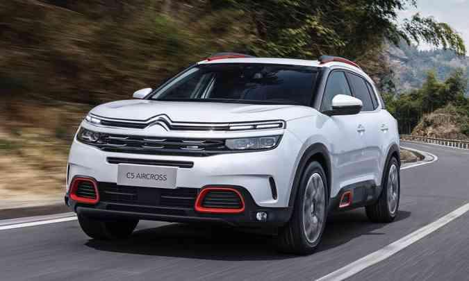 O Citroën C5 Aircross é um médio que vai trazer muito do Peugeot 3008, com quem divide a plataforma e o motor 1.6 THP.(foto: Citroën/Divulgação)