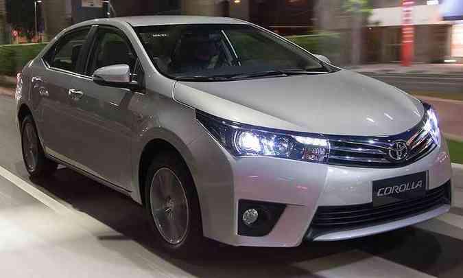 Toyota Corolla vendeu 67 mil unidades em 2015(foto: Toyota/ Divulgação)