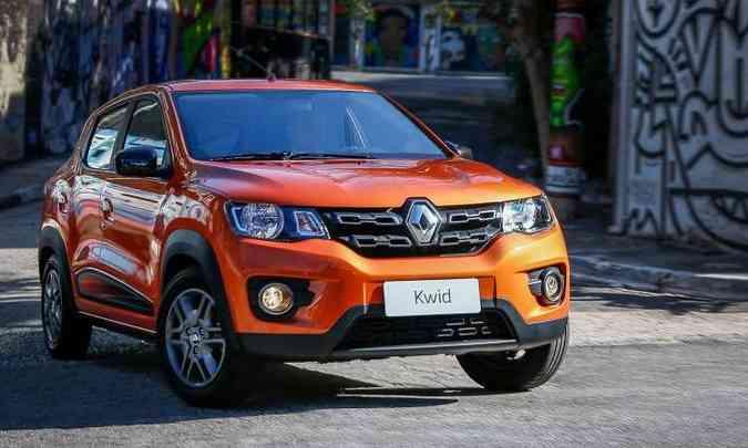 O compacto Kwid foi lançado há pouco tempo, mas já apresenta problemas nos freios e na linha de combustível(foto: Rodolfo Buhrer/Renault/Divulgação)