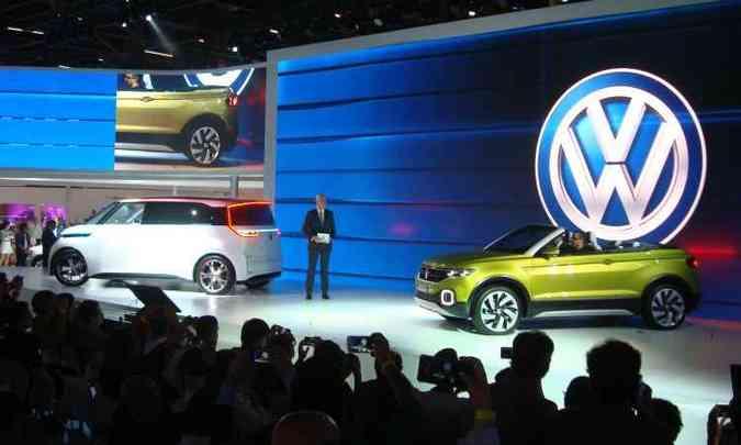 Volkswagen mostrou conceitos e-budd e T-Cross Breeze, que dará origem à inédito SUV compacto(foto: Bruno Freitas/EM/D.A Press)