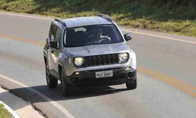 O Jeep Renegade foi destaque, com 21.383 unidades emplacadas de janeiro a abril(foto: Juarez Rodrigues/EM/D.A Press)