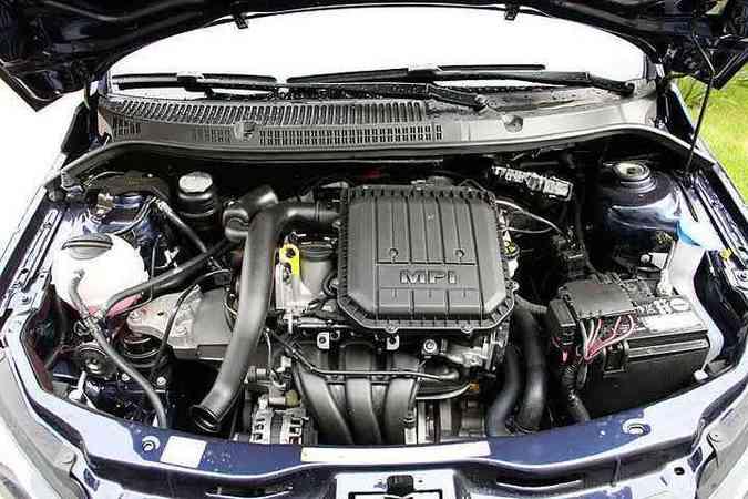 Motor 1.0 de três cilindros melhora desempenho e baixa consumo(foto: Marlos Ney Vidal/EM/D.A Press)