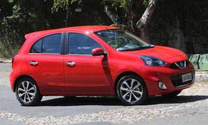Com 406 emplacamentos em maio, Nissan March está entre os compactos menos vendidos do país(foto: Jair Amaral/EM/D.A Press)
