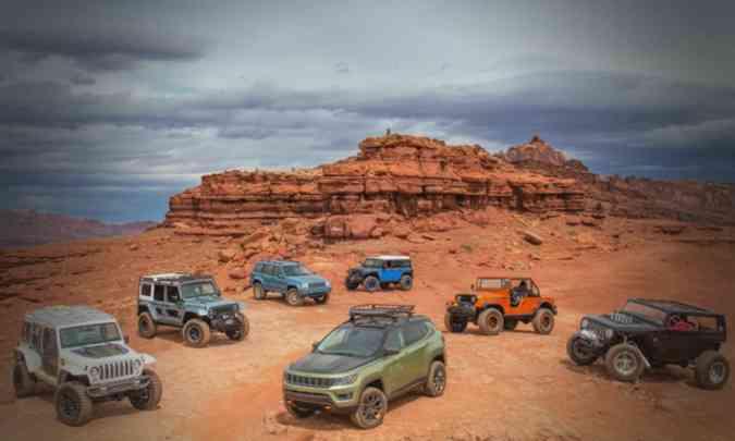No reality show Jeep Challenge Brasil os participantes enfrentarão desafios a bordo dos SUVs da marca(foto: Jeep/Divulgação)