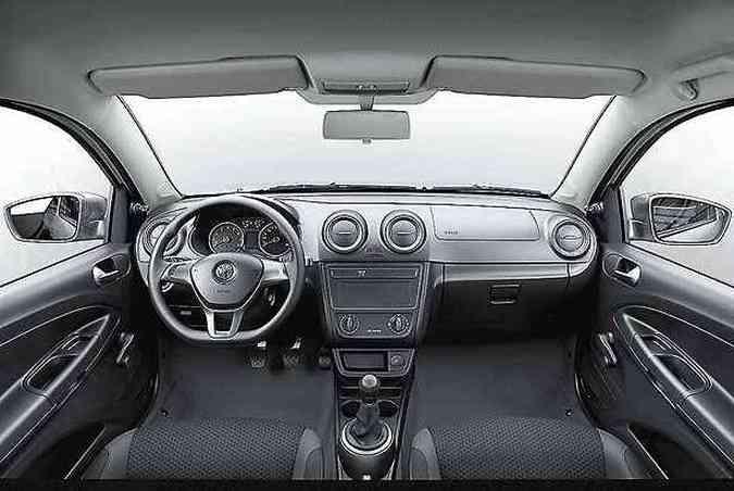 ...mas preservou o antigo painel e o interior do modelo anterior(foto: Volkswagen / Divulgação )