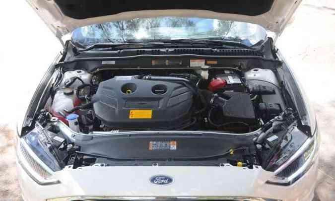 Motor 2.0 Ecoboost tem 248cv e responde bem às acelerações(foto: Leandro Couri/EM/D.A Press)