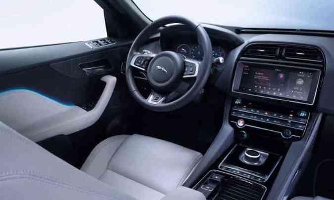 Interior do F-Pace é muito sofisticado(foto: Jaguar/Divulgação)