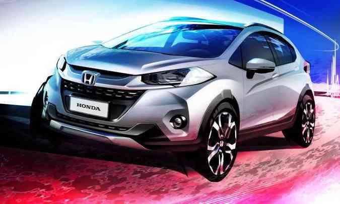 Primeiro esboço revelado do Honda WR-V(foto: Honda/Divulgação)