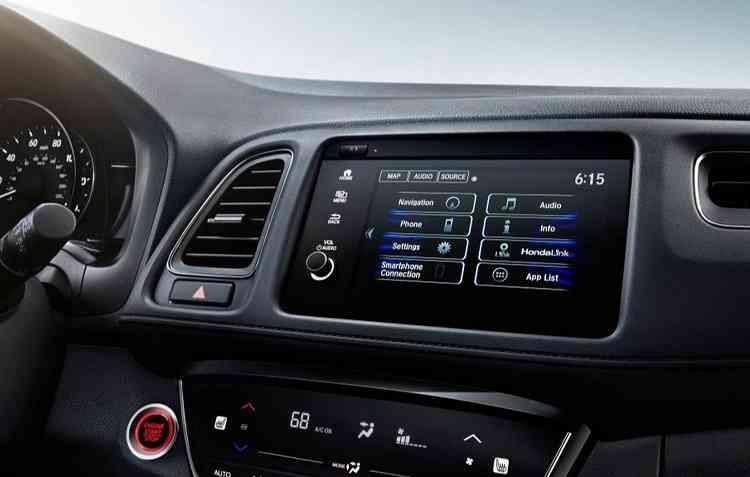 Central multimídia possui conectividade com Apple CarPlay e Android Auto. Foto: Honda / Divulgação -