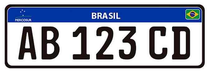 Assim será a nova placa brasileira: o que você achou?(foto: Arte Soraia Piva/EM)