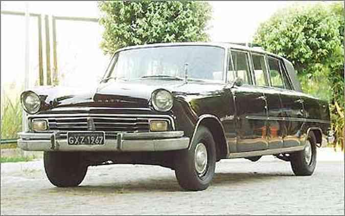 O Itamaraty Executivo, uma limusine de 5,52 m de comprimento, lançado em 1967(foto: Eduardo Rocha/RR - 30/4/03)
