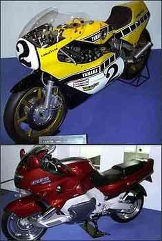YZR 750 cm³ de 1978 e GTS 1000 cm³ de 1993