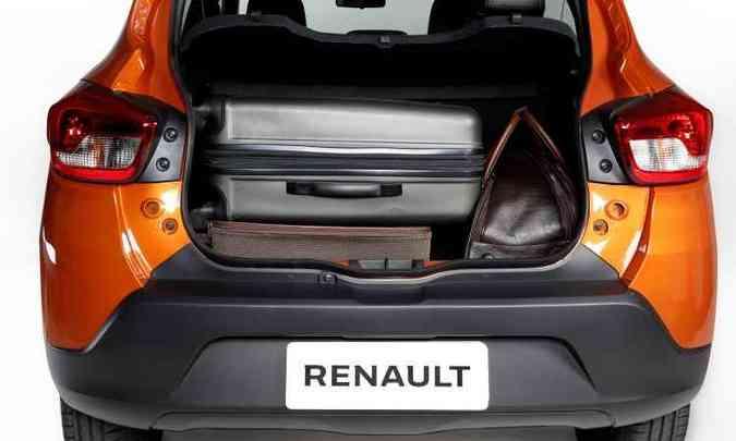 Porta-malas te volume de 290 litros(foto: Renault/Divulgação)