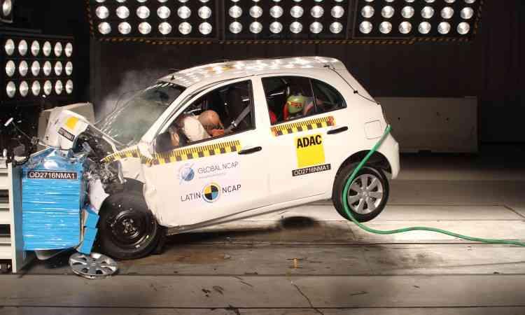 Proteção à cabeça e pescoço do motorista e passageiro foi considerada boa, graças aos airbags - Latin NCAP/Divulgação