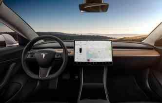Model 3, o carro com modo autônomo da Tesla(foto: Tesla/Divulgacao)