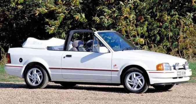 Escort XR3 conversível foi um dos modelos mais desejados do país(foto: Ford/Divulgação)