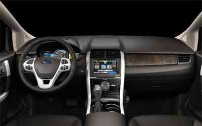 O habitáculo é um mostruário tecnológico: telas LCD, sistema touch screen e iluminação ambiente - Ford/Divulgação