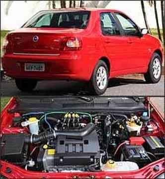 Modelo três volumes tem design que ainda agrada, com linhas suavemente arredondadas. Motor tem desempenho satisfatório com cobustível líquido e parece 1.0 quando está com GNV