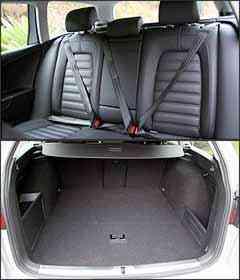 Falta conforto para o passageiro do meio do banco traseiro. Porta-malas permite acomodar 513 litros - Marlos Ney Vidal/EM - 16/10/07