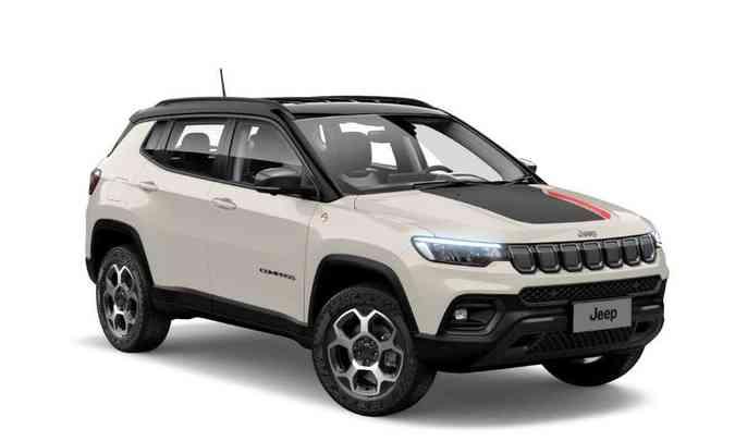 A versão Trailhawk traz novo adesivo de capô, rodas de 17 polegadas diamantadas com pneus de uso misto(foto: Jeep/Divulgação)