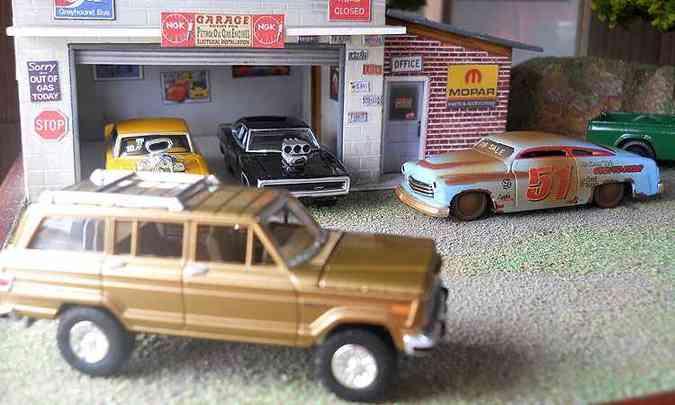 Além dos carrinhos, colecionadores vão exibir cenários com os modelos(foto: Miniatura Esporte Clube/Divulgação)