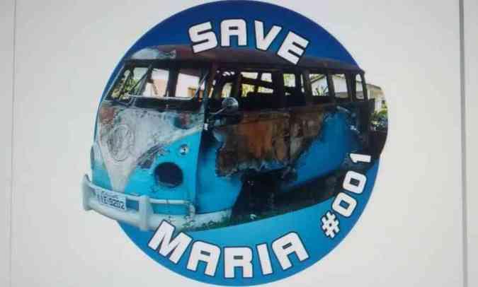 Adesivo da campanha Save Maria custa R$ 9 e entrega é feita pelos Correios(foto: Campanha Save Maria/Reprodução da internet)