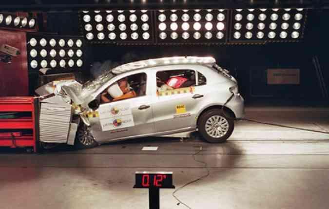 O Gol foi testado em Agosto 2010, há exatos 9 anos atrás. Desde então, nunca mais foi testado (foto: Latin NCAP/Divulgação))