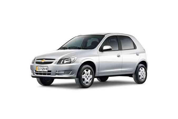 Aposentado em 2015, o Celta continua fazendo sucesso no mercado de usados(foto: Chevrolet/Divulgação)