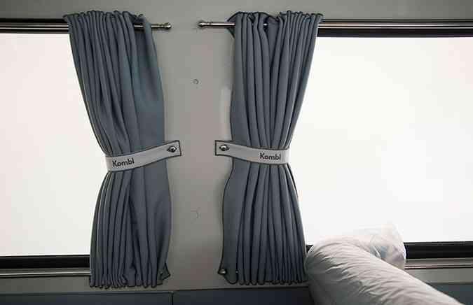 Cortinas personalizadas dão o maior charme ao modelo(foto: Thiago Ventura/EM/D.A Press)