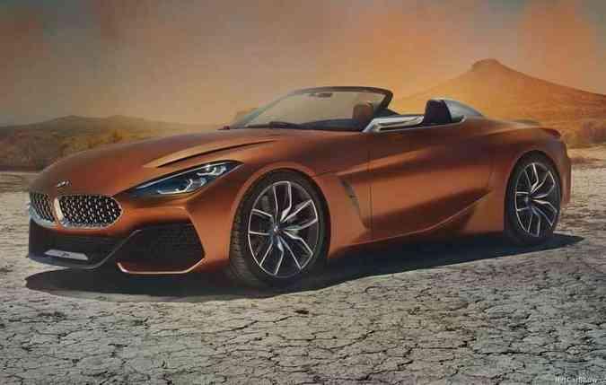 Formas agressivas, grade frontal imponente e linha de cintura esculpida são características que fixam o design (foto: BMW/Divulgação )