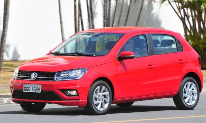 O velho VW Gol é o quinto modelo mais vendido no ranking geral e o primeiro entre os compactos de entrada(foto: Gladyston Rodrigues/EM/D.A Press)