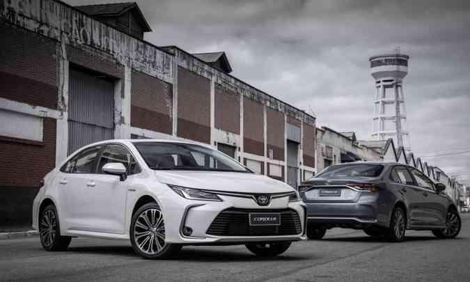 O imbatível Toyota Corolla emplacou 14.792 unidades no acumulado do ano até maio(foto: Studio Malagrine/Toyota/Divulgação)
